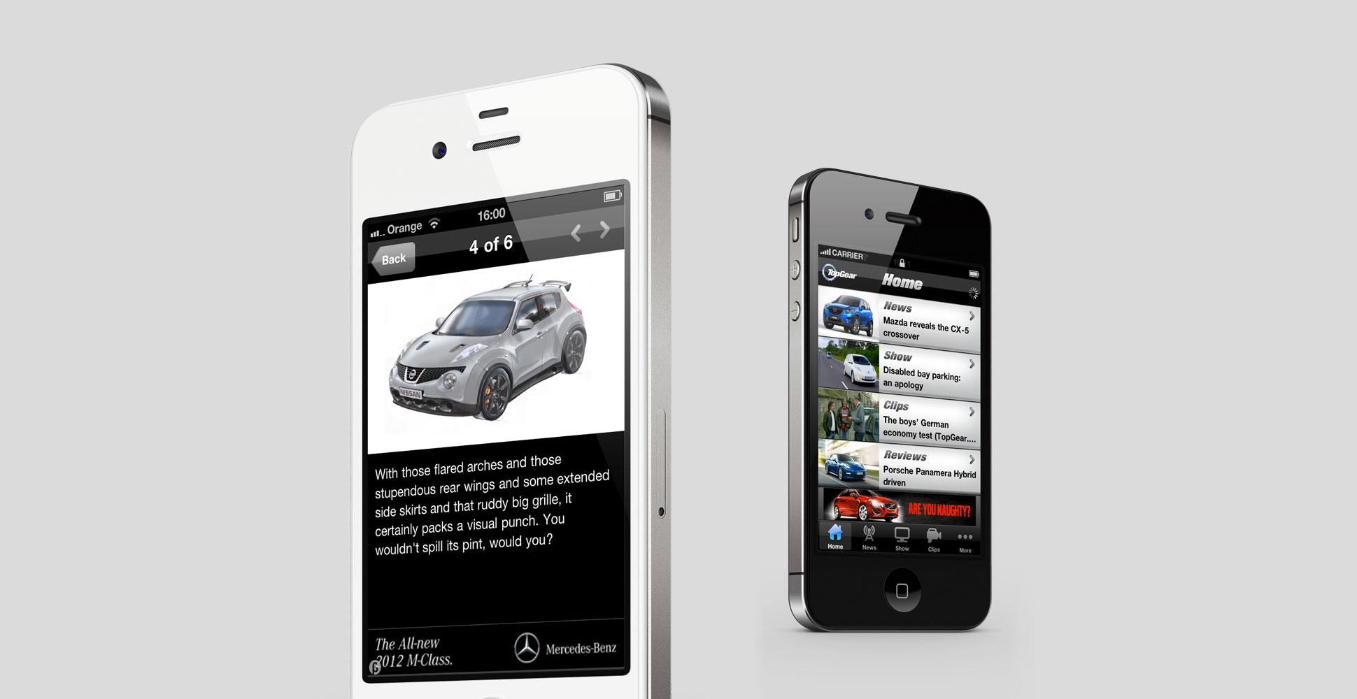 Top Gear Mobile App Images